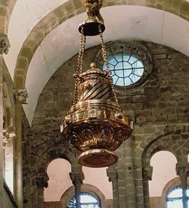 The Botafumeiro flying in Santiago de Compostela Cathedral